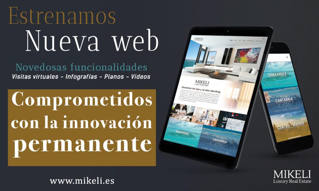 nueva web Inmobiliaria MiKeli santander